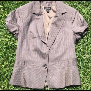 Bebe Gray Short Sleeve Vest Lace Detail 8
